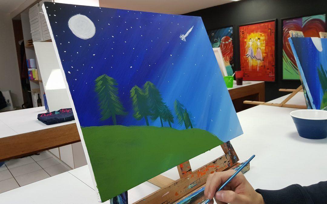 Art&Sip México te convierte en pintor durante unas horas