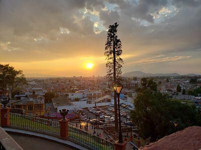 Atardecer desde la Iglesia del Calvario: Qué hacer en Metepec