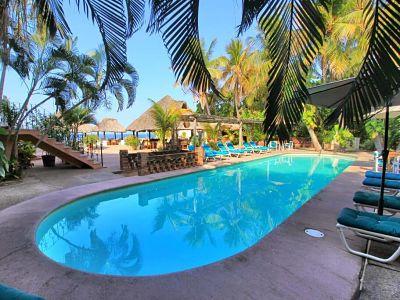 Hotel santa Fe en playa zicatela