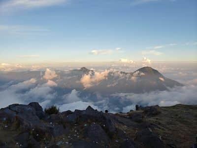 Volcán Santa María en Guatemala