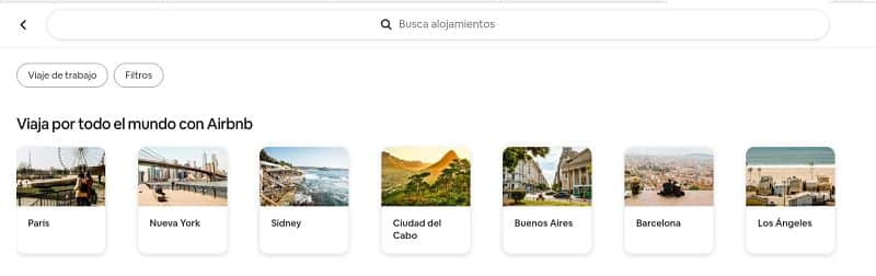 Buscar hospedaje en airbnb