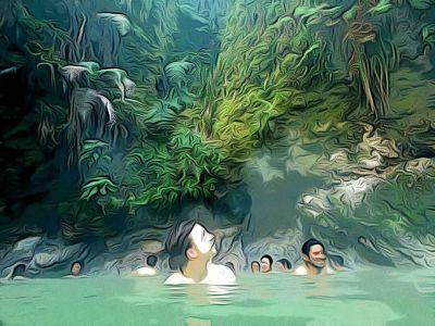 El baño en el volcán que nos permitió conocer el elemento del agua