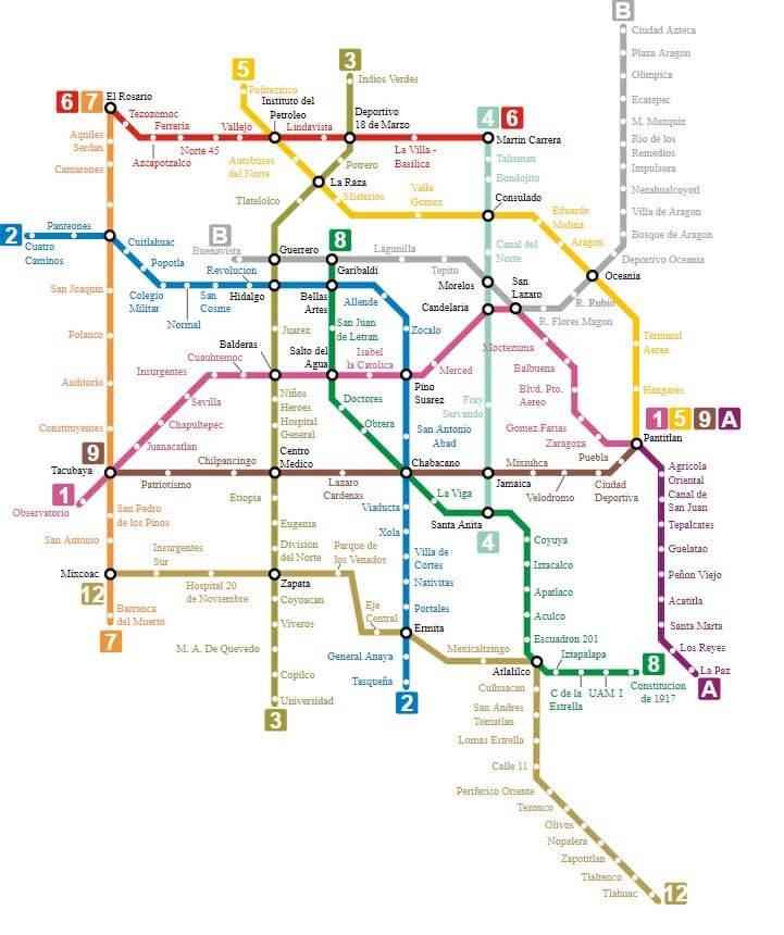 Mapa Metro Ciudad de México